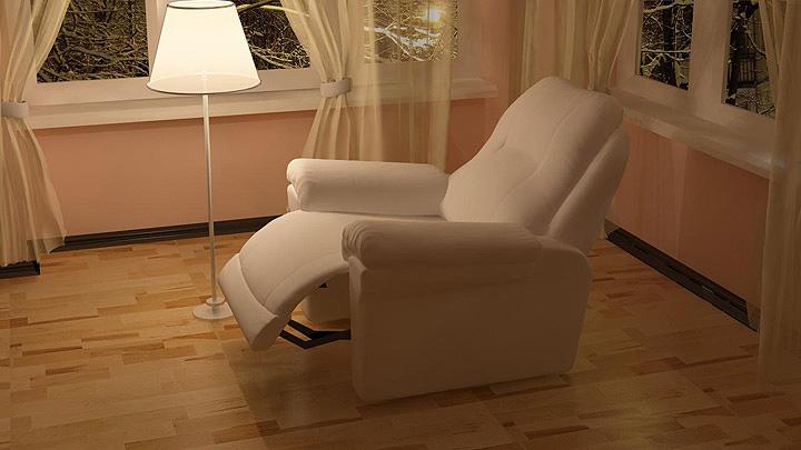 Белое кресло в интерьере
