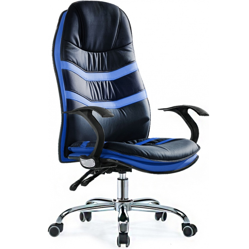 Черно синее кресло