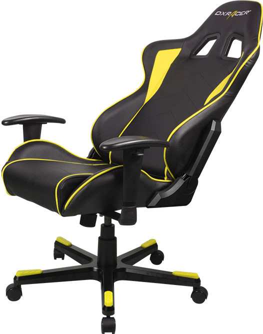 Черное кресло с желтыми вставками