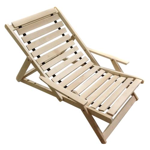 Деревянное кресло шезлонг
