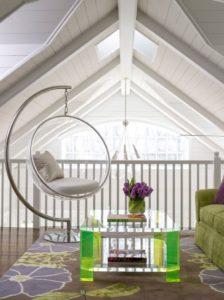 Как использовать подвесное кресло в интерьере