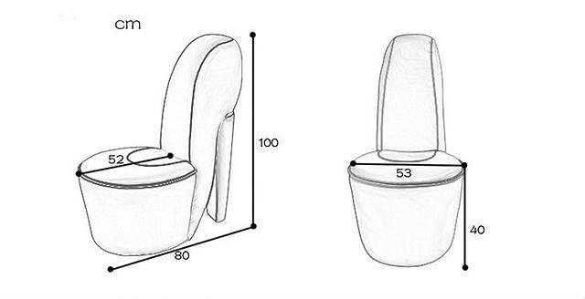 Как сделать кресло туфельку на шпильке своими руками
