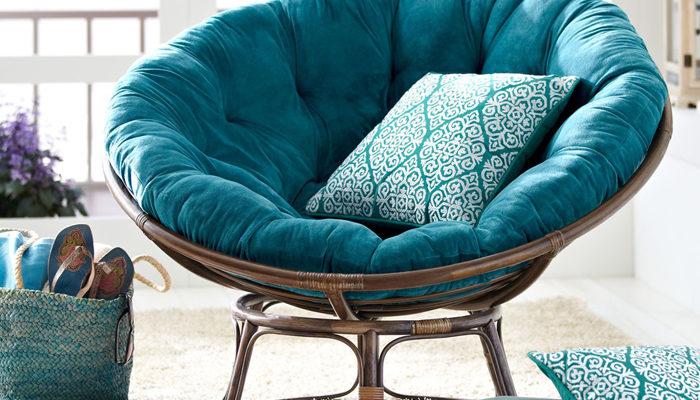 Кресло Papasan (50 фото качалка из ротанга и подушка для нее) 63