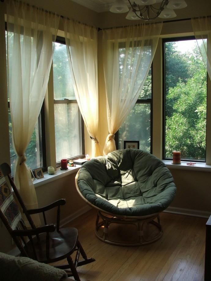 Комфортное кресло папасан для уютного интерьера