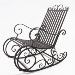 Кованое кресло качалка