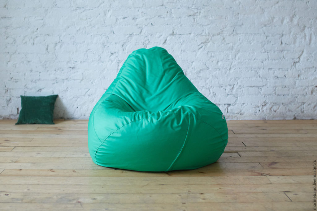Кожаное кресло мешок