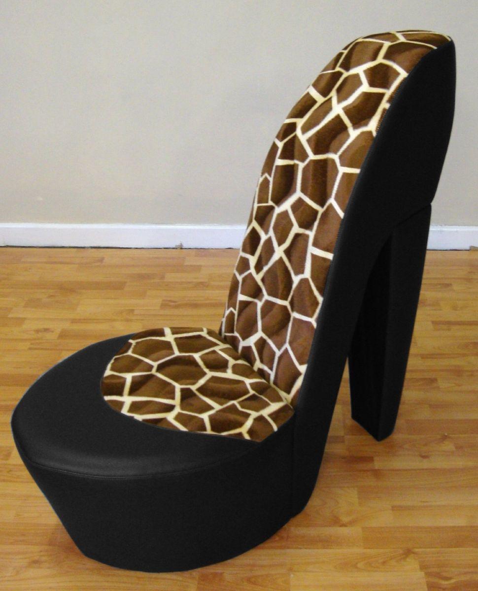 Кожаное кресло туфелька