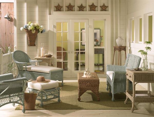 Красивая плетеная мебель