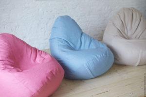 Кресла мешки в спокойных тонах