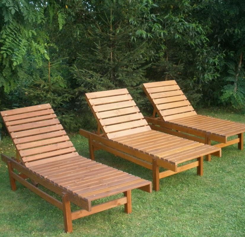 Кресла шезлонги из дерева для дачи