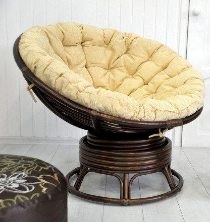 Кресло Papasan (50 фото качалка из ротанга и подушка для нее) 87