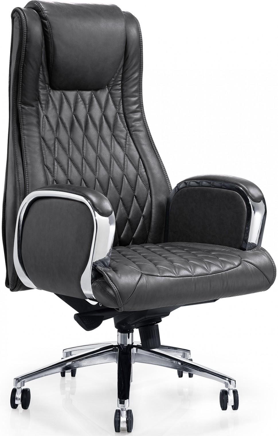 Кресло, черная кожа