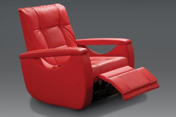 Кресло диван в красном цвете