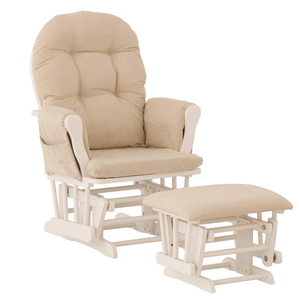 Кресло глайдер в бежевом цвете