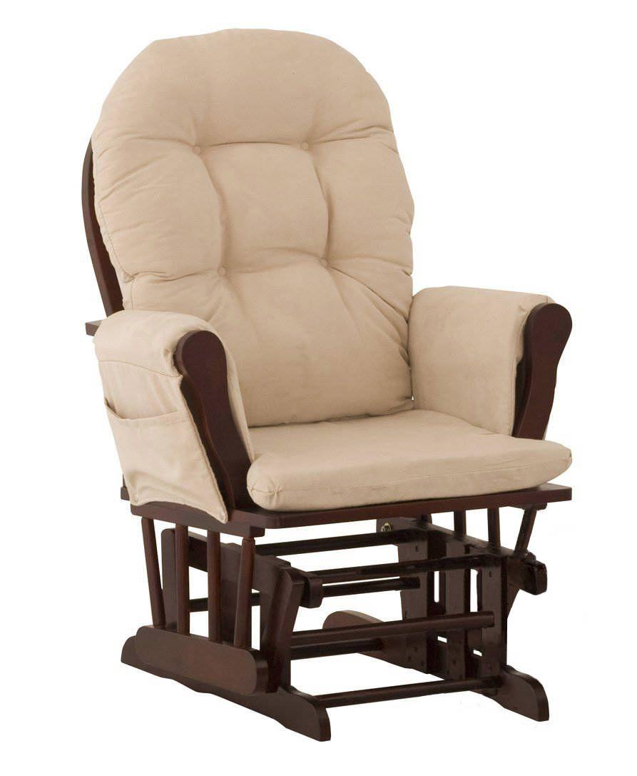 Кресло из дерева и ткани