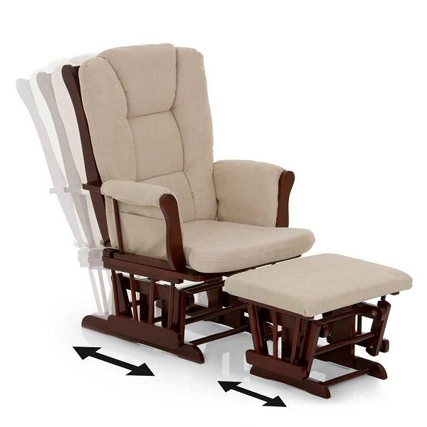 Кресло качалка для кормления с подножкой