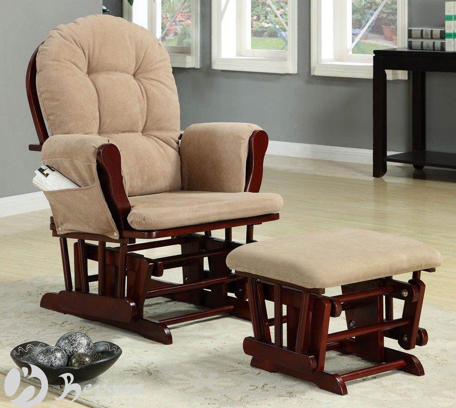 Кресло качалка глайдер с банкеткой