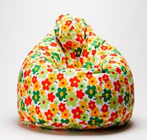 Кресло мешок с цветочным чехлом