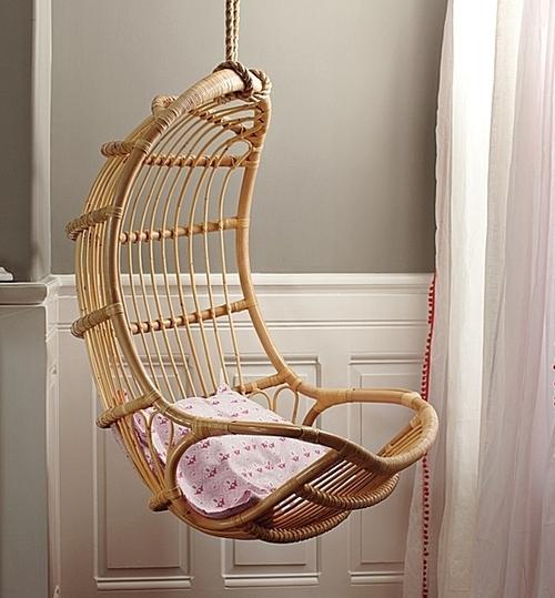 Кресло плетеное подвесное