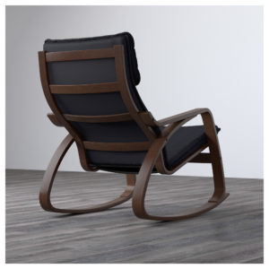 Кресло поэнг - вид сзади