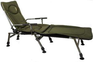 Кресло раскладушка карповая с подлокотниками