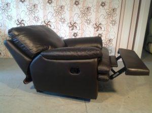 Кресло реклайнер из натуральной кожи