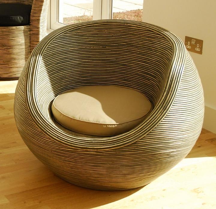 Кресло ротанг круглое