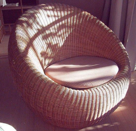 Круглые кресла в интерьере