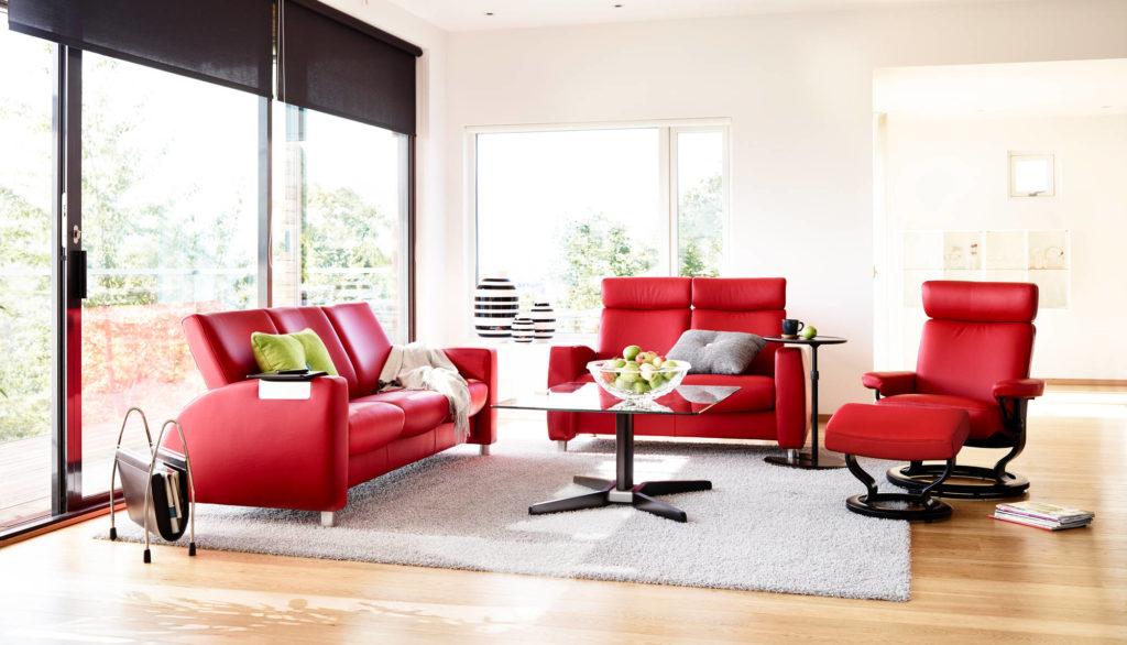 Мебель в красном цвете