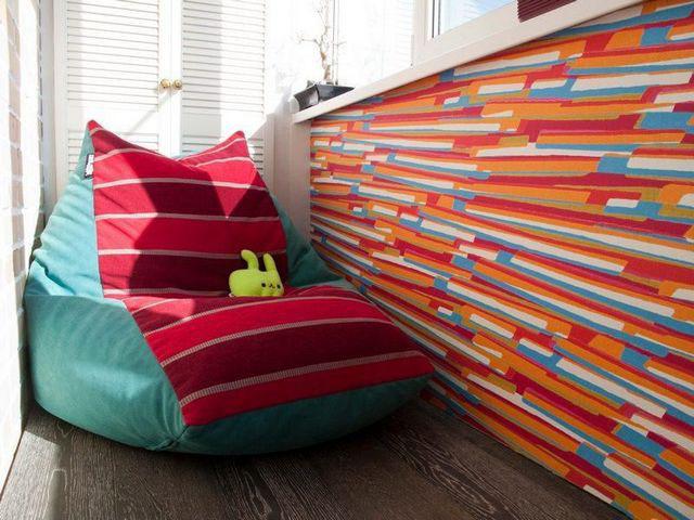 Мягкое кресло мешок в интерьере