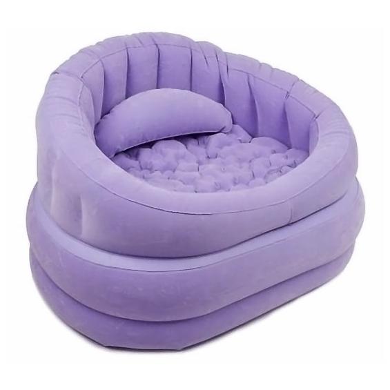 Надувное фиолетовое кресло