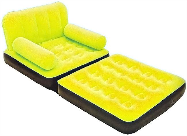 Надувное кресло кровать в разложенном виде