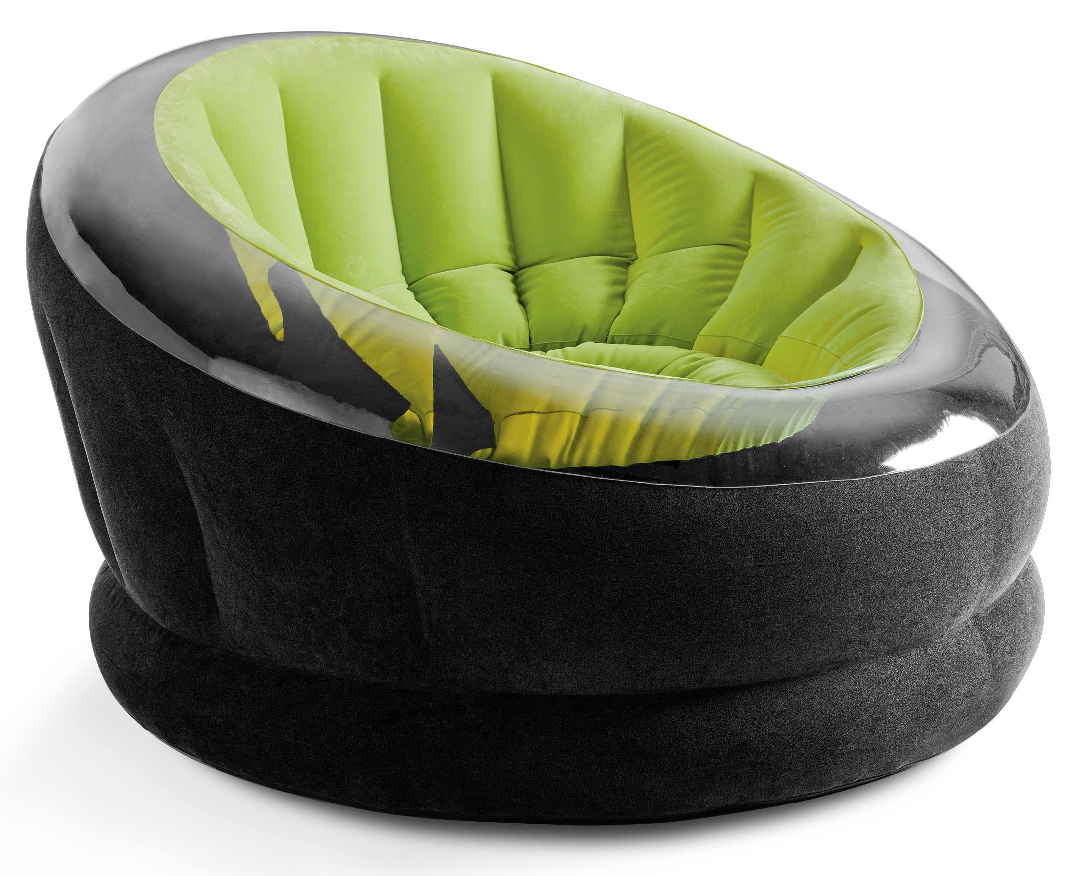 Надувное кресло велюр