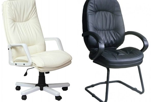 КОфисные кресла из искусственной и экокожи