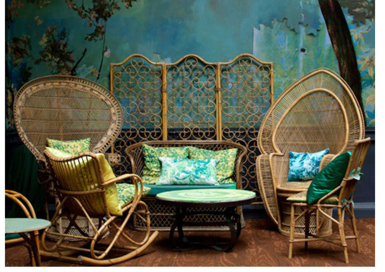 Оригинальные плетеные кресла