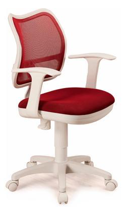 Ортопедическое кресло в бело красном цвете
