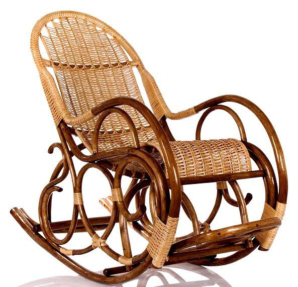Плетеная мебель из ивы кресло качалка