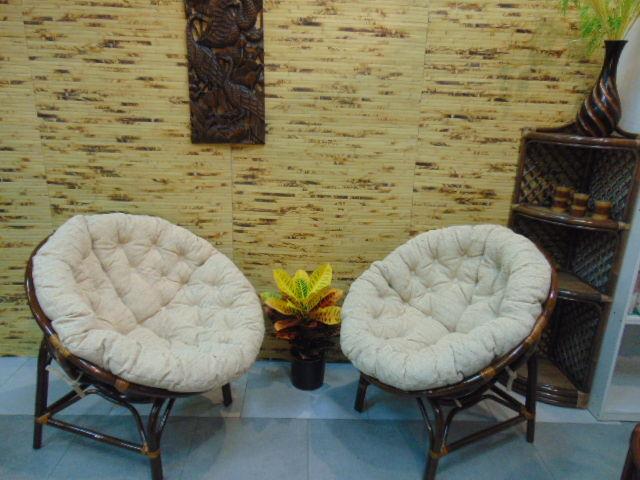 Плетёное кресло из натурального ротанга