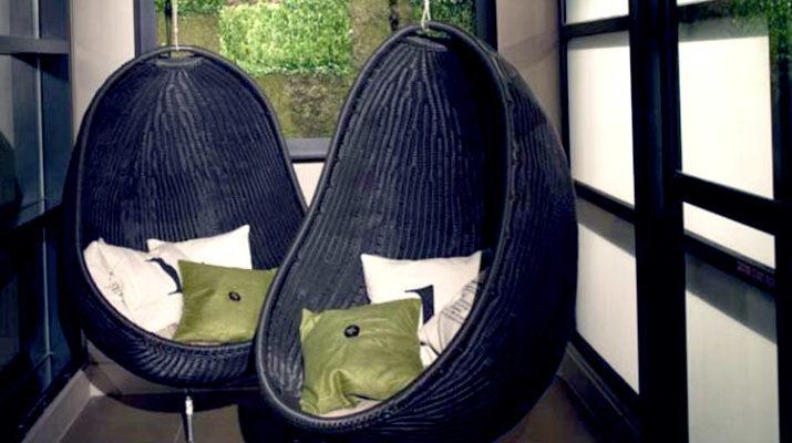 Подвесное кресло в виде кокона