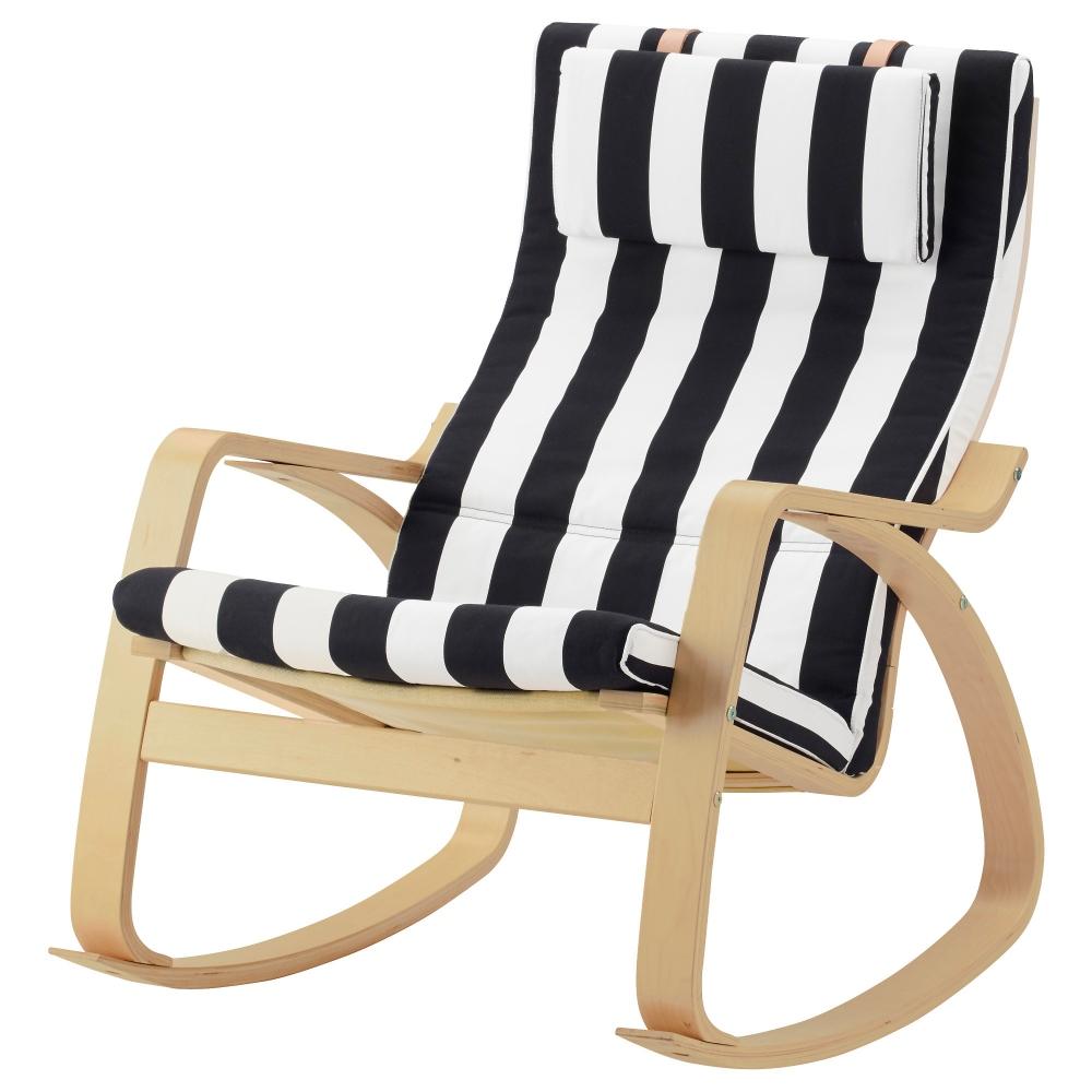 Полосатый чехол для кресла