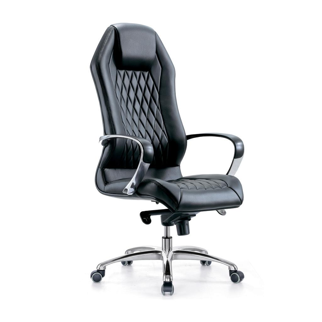 Полумягкое кожаное кресло для руководителя