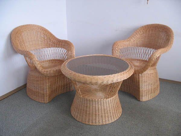 Стильные кресла из лозы