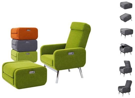 Суперкомпактное раскладное кресло