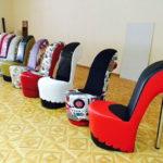 Какими бывают кресла туфельки, красивые идеи
