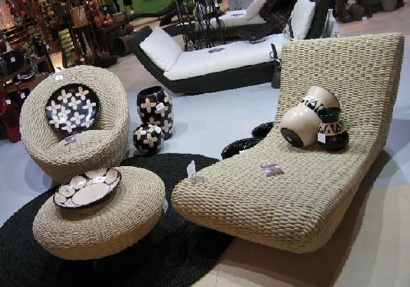 Виды плетеной мебели