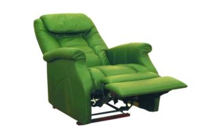 Зеленое кресло реклайнер