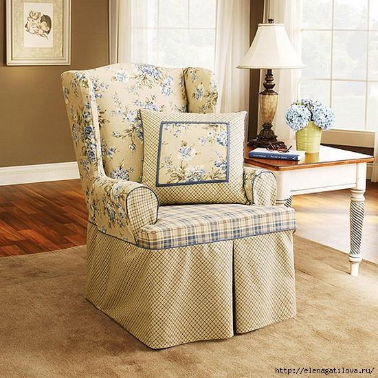 Элегантный чехол на кресло