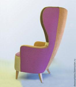 Изящное кресло с высокой спинкой
