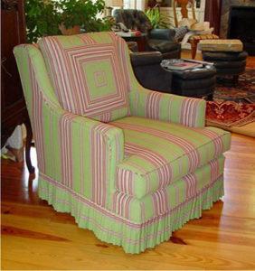 Как сшить съемный чехол на кресло своими руками