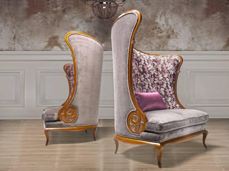 Кресла с высокой спинкой и подушкой